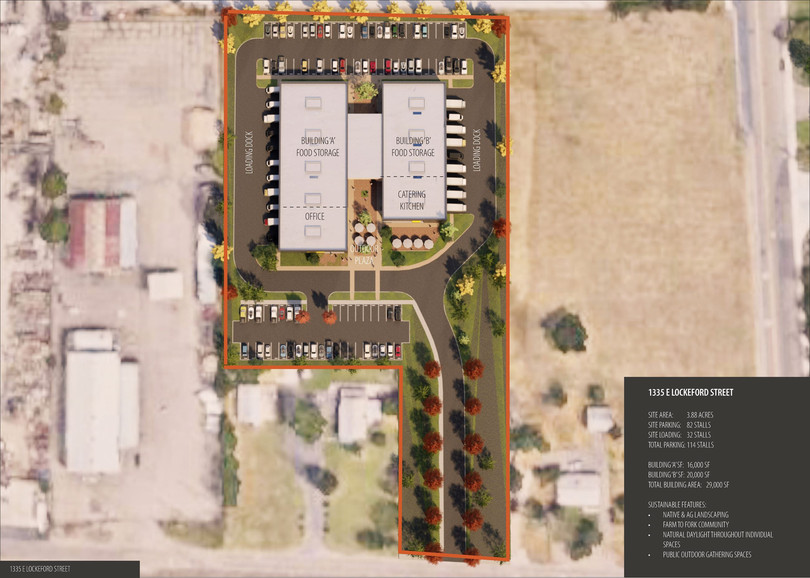 1335 E Lockeford- Site Plan View