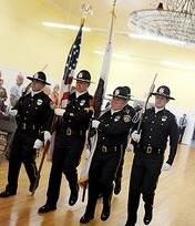 Lodi Police Department Honor Guard members
